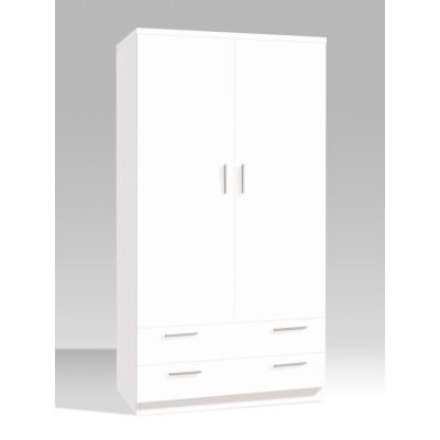Armario Juvenil 2 Puertas 2 Cajones Blanco