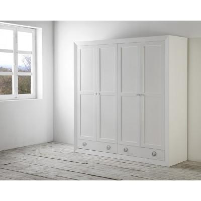 Armario 4 Puertas color Blanco