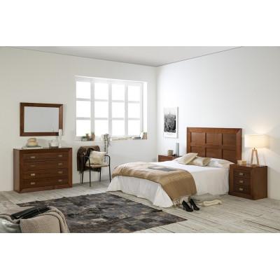 """Dormitorio Rústico Barnizado """"CEREZO 3"""""""