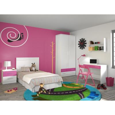 Dormitorio Juvenil Online Rosa