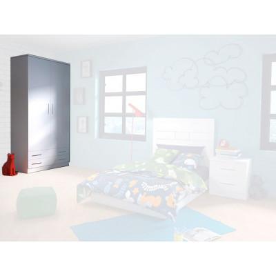Armario Dormitorio Juvenil Azul