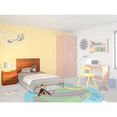 Cabecero + Mesita Dormitorio Juvenil Amarillo