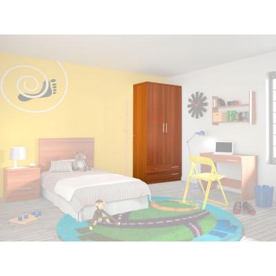 Armario Dormitorio Juvenil Amarillo
