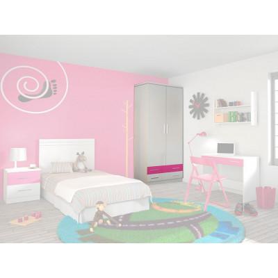 Armario dormitorio Juvenil Rosa