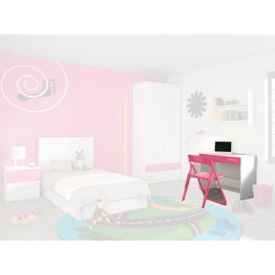 Escritorio Dormitorio Juvenil Rosa