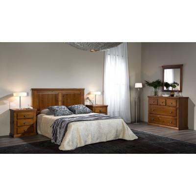 """Dormitorio Rustico Barnizado """"CEREZO 1"""""""