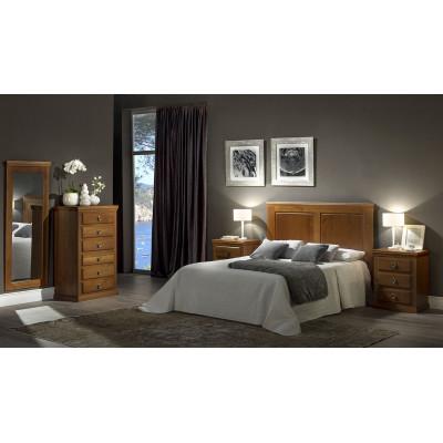 Dormitorio Rústico Cerezo Barnizado Modelo 2